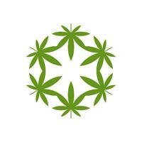Marijuana verte feuille Logo modèle Illustration Design. Vecteur EPS 10.