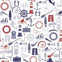 Nautical seamless pattern. vector