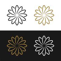Guldblommönsterprydnad Logo mall illustrationdesign. Vektor EPS 10.
