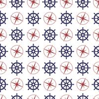 Nautical seamless pattern with anchor and porthole. vector