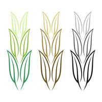 Growth Leaf Vector Logo Mall Illustration Design. Vektor EPS 10.