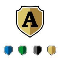 Eerste Shield vector Logo Template Illustratieontwerp. Vector EPS 10.