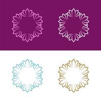 Projeto decorativo abstrato da ilustração do projeto da ilustração do molde da flor do logotipo. Vetor eps 10