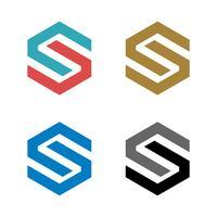 S Letter Hexagon Shape Logo Mall Illustration Design. Vektor EPS 10.