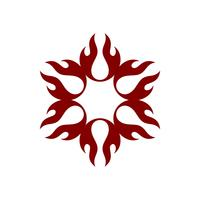 Rote Flammen-Feuer-Blume Logo Template Illustration Design. Vektor EPS 10.