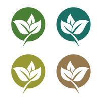 conjunto verde hojas ecología Logo plantilla ilustración diseño. Vector EPS 10.