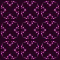 Etnische paarse bloem ster naadloze patroon