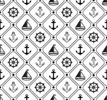 Marine seamless pattern. Suitable for wallpaper, paper, decoration. vector