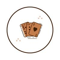 Cartas de jogo de arte de linha