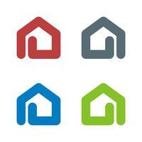 Progettazione dell'illustrazione di progettazione dell'illustrazione del modello di logo della casa della graffetta. Vettore ENV 10.