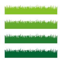 Groen Gras Vastgesteld Vectorillustratieontwerp. Vector EPS 10.
