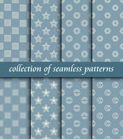 Set of art deco seamless patterns. Stylish modern textures. abstract backgrounds