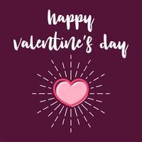 Happy Valentijnsdag brief vector sjabloonontwerp van de illustratie
