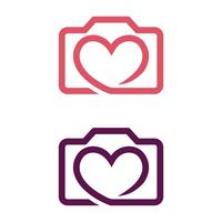 Camera Love vector Logo Template Illustration Design Illustration Design. Vector EPS 10.