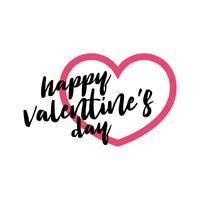 Glückliches Valentinstagbuchstabe-Vektorschablone Illustrations-Design