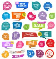 Moderne badges stickers en labels-collectie