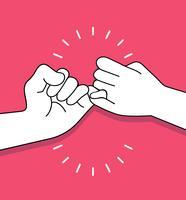 Hände, die Versprechenvektorkonzept machen