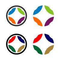 Définir le cercle coloré Logo ornemental Template Illustration Design
