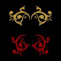 Ilustração decorativa Logo Template Illustration do projeto decorativo do vetor do design floral. Vetor eps 10