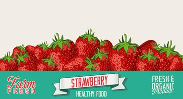 Strawberry retro vintage background vector
