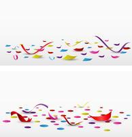 coriandoli di celebrazione impostato su sfondo bianco