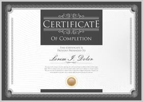 Certificate or diploma retro design template vector illustration