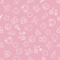 Modello senza cuciture dei giocattoli del bambino Può essere utilizzato per tessuti, carta e altri design.