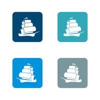 Projeto da ilustração do molde do logotipo do navio de navigação. Vetor eps 10