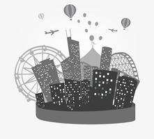 Fond de silhouette de la ville