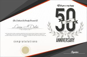 anniversary background template  vector