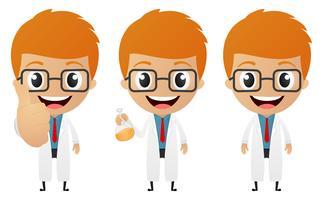 jonge wetenschapper cartoon