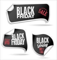 Colección de etiquetas de ventas de viernes negro