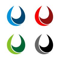 Tröpfchen Swoosh Logo Template Illustration Design. Vektor EPS 10.