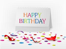 Happy birthday greetings card with note paper