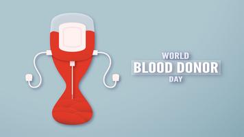 Element decoration for World blood donor day at June,14. Vector illustration in paper cut and craft style. This design is for poster,banner,advertisement.