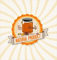 Honey retro vintage background