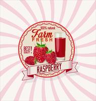 Raspberry retro vintage background