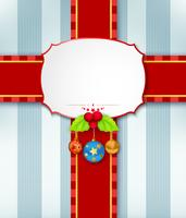 Christmas card background with ribbon vector