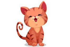 Cute little kitten vector