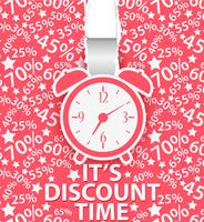 Shopping time poster design with alarm clock