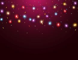 Sfondo di luce di Natale