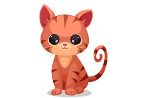 Cute little kitten vector