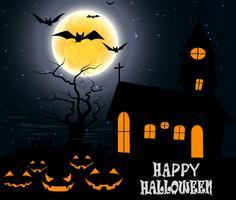 Festa de Halloween na lua cheia