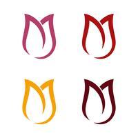 Diseño de ilustración de plantilla de logotipo de flor de tulipán. Vector EPS 10.