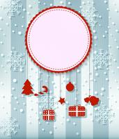 Fond de carte de Noël avec ruban