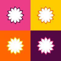 Eenvoudig Bloempatroon Logo Template Illustration Design. Vector EPS 10.
