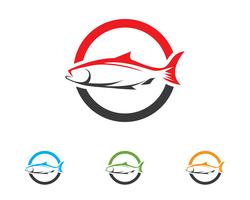 Fish icon logo vektor