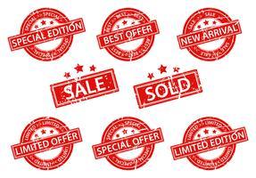 Diseño de venta de sellos de goma.