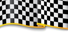 Fundo de corrida. Xadrez preto e branco