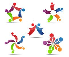 Community, network and social icons vector